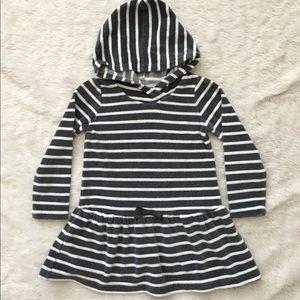 Gymboree striped hooded velour dress